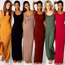 2019 Elegant <b>Women</b> Sexy Dress O Neck Sleeveless <b>Slim</b> Maxi ...