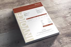 commercial business invoice niana this beautiful invoice template has a very corporate design and will make you look like a