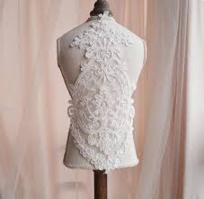 <b>1 piece ivory Lace Appliques</b>,Embroidered Flowers,Patches For ...