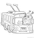 Водитель раскраски для детей