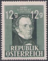 Geburtstag von Franz Schubert/**. Ausgabe: 31.03.1947, Komponist 1797-1828 - %25C3%2596-PF-150