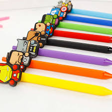 Super Avengers American Marvel Heroes Cartoon Gel Pen Ink ...