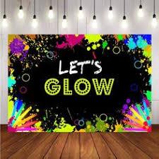 Photography <b>Background</b> Glow Neon <b>Backdrop Let's Glow</b> Splatter ...