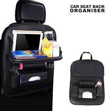 <b>1pc</b> PU Leather <b>Car</b> Seat Back Bag <b>Folding</b> Table Organizer Pad ...