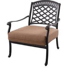 lounge patio chairs folding download: cast aluminum deep seating patio lounge chair mocha at searscom