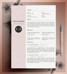 ideas about creative cv template on pinterest   creative cv    creative resume template  cv template  instant download  editable in ms word and pages   cover letter