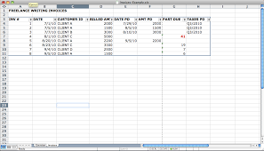 do it yourself billing ms office lancer hacks the first tab called invoices is a table the following columns