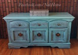 vintage buffet console cabinet and tv consoles on pinterest blue shabby chic furniture