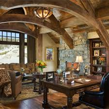 black leather office chair log home traditional office design neat rustic home office desks living space black leather office design