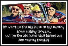 Funny Old Ladies on Pinterest | Funny Old People, Old People Jokes ... via Relatably.com