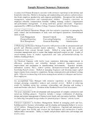 doc career advice to improve your resume the summary example resume summary statement