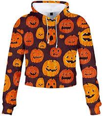 MEEYA Women Bow Skew Collar <b>Pumpkin Print</b> Blouse Top for ...