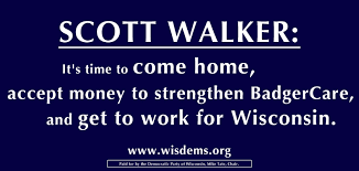 Image result for democrats billboards scott walker wi