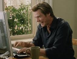Image result for jim carrey typing