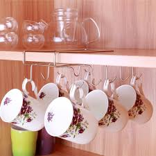 Stainless Steel <b>Kitchen</b> Rack Hanging Coffee <b>Tea</b> Cup <b>mug Holder</b> ...