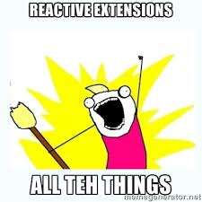 Reactive Extensions ALL TEH THINGS - All the things | Meme Generator via Relatably.com