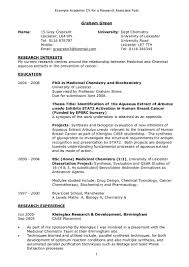 writing a cv for academic positions science