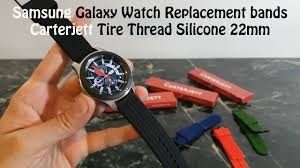 Samsung Galaxy <b>Watch</b>, <b>Replacement Silicone</b> 22mm <b>Bands</b> ...