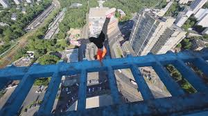 cliff jump gone awry is proof you should always look before you people really need to stop doing handstands on rooftop ledges