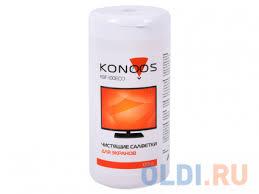 <b>Салфетки Konoos KBF</b>-<b>100ECO</b> для ЖК-экранов в банке, 100 шт ...