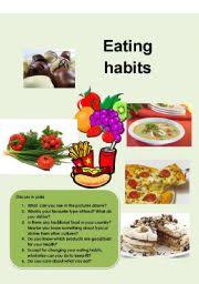healthy eating habits essayenglish teaching worksheets  eating habits english worksheets  eating habits