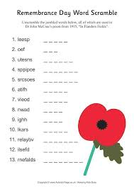 images about remembrance day on pinterest   remembrance day    remembrance day word scramble pdf link