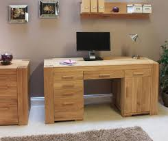 baumhaus aston oak twin pedestal office desk baumhaus aston oak hidden