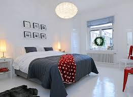 minimalist white and grey bedroom grey white