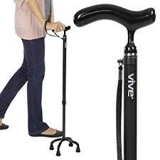 Vive Quad Cane - <b>Carbon</b> Fiber <b>Lightweight</b> Walking <b>Stick</b> for Men