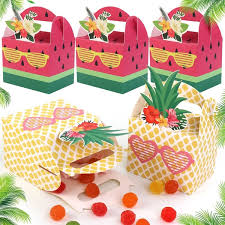 <b>OurWarm 10Pcs</b> Pineapple Watermelon Candy Bag Gift Box Hawaii ...