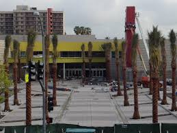 theater square takes shape in downtown san bernardino workers completing what will be the new driveway allowing families to drop off moviegoers at the new regal cinemas stadium 14 theater at theater square in