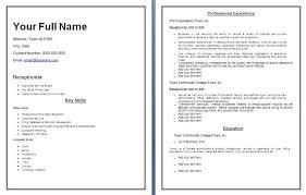 sample receptionist resume  seangarrette cowww wordstemplates org tag receptionist resume exles   sample receptionist resume