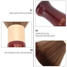 1Pc Soft Neck Duster Handle Hair <b>Brush</b> Salon Soft <b>Brush</b> for ...