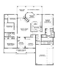 This elegant French inspired house plan offers large bedrooms     House Plan   Country Southern Plan   Sq  Ft   Bedrooms