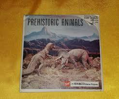 Viewmaster GAF B619 PREHISTORIC <b>ANIMALS Complete 3</b> Reel ...