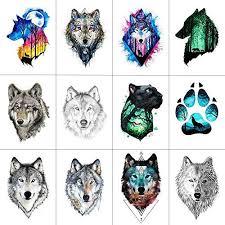 <b>Wyuen 12 PCS</b>/<b>lot</b> Wolf Temporary Tattoo Sticker for Women ... https ...