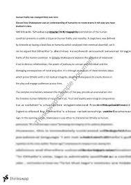 othello essay module b   year  hsc   english  advanced    thinkswapothello essay module b