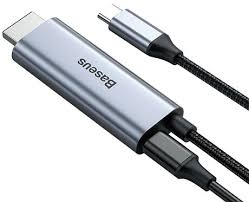 Кабель <b>Baseus C</b>-<b>Video Functional</b> Notebook Cable (HDMI+PD) 1.8 ...