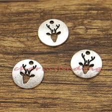 <b>30pcs</b> Reindeer Deer <b>Charms</b> Christmas <b>Charms</b> Antique Silver   Etsy