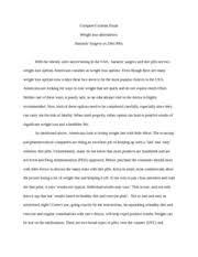 compare contrast essay weight loss   comparecontrast essay   pages essay com