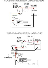 boat livewell timer installation basic livewell timer installtion diagram