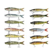 ZANLURE 6PC <b>Fishing</b> Lure <b>8 Segments</b> Hard Bait 13cm/19g ...