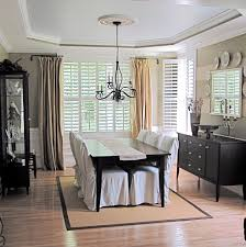 Dining Room Curtain Dazzling Swing Arm Curtain Rod In Dining Room Traditional With Rug