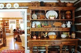 rustic hutch dining room: image credit corynne pless buffet hutch dining room rustic with area rug baskets cabin corner display cabinet earth tones entry hardwood floor