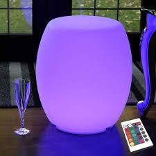 Cordless <b>LED Light</b> Up <b>Stool</b> Seat / Furniture / <b>Side</b> Table / Floor <b>Lamp</b>