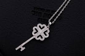 Luxury Dazzling <b>AAA+ Swiss Cubic Zirconia</b> Women's Key Pendant ...
