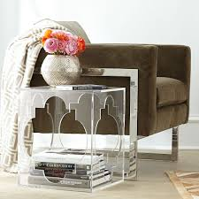 acrylic side table absolutely love the quatrefoil design acrylic lucite furniture