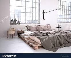 apartmentsfascinating modern industrial bedroom in a loft d rendering stock photo shelving fascinating modern industrial bedroom cheap loft furniture