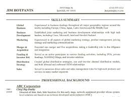 sample resume summary of skills experience resumes sample resume summary of skills