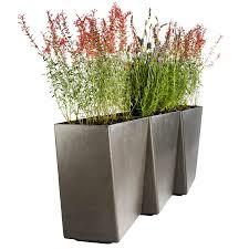 twista tall contemporary inch modern outdoor planter pot